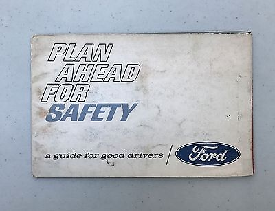 Vintage Ford Plan Ahead for Safety Brochure