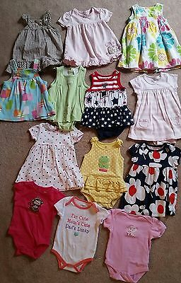 Large Baby Girls 9M SPRING SUMMER dresses Lot! 9 months Carters
