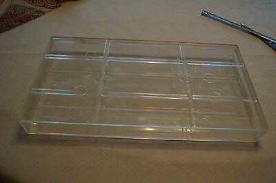 """Display Case Jewelry Display plastic 7.5 X 14"""" closed Specimen clear science"""