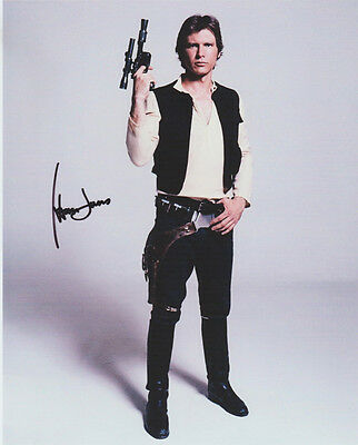 HARRISON FORD HAND signed Autographed 8X10 photo w/COA STAR WARS INDIANA JONES