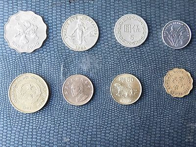 World Coins Asia Multiple Nations Including Taiwan