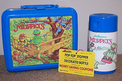 Vintage KERMIT The FROG~ Muppets LUNCHBOX & THERMOS W/Tag!