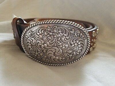 Ariat Western Belt Womens Studded Leather