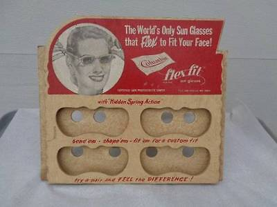 Vintage Sunglasses Store Display Wooden Columbia Flex Fit Advertising
