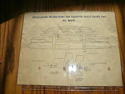 Chevrolet Installation Instructions Radiator Grille Guard Unit - No. 986191