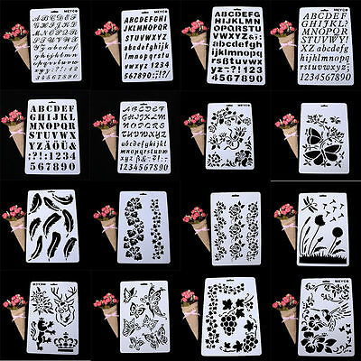 Letter Alphabet Number Layering Stencils Painting Scrapbooking Cards Paper Craft