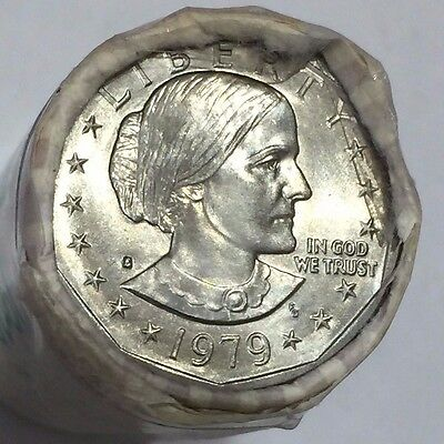 1979-S Type 1 ~ Susan B Anthony $1 ~ BU ~ Orig. Brinks Bank Roll ~ Deep Cameo