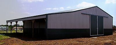 POLE BARN 40X60x12 +15' SHED POST FRAME BUILDING PLANS E-FILE AS PDF OR WORD DOC