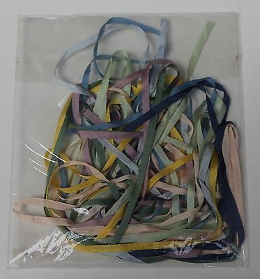 Silk Ribbon 10yds X 4mm width, assorted colours as photogh & a needle selection