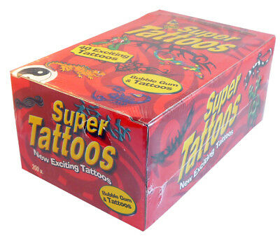Super Tattoos (200 pieces in a Display)