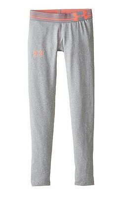 NEW Under Armour Girl's Pants Leggings Size YXL Youth Extra Large Gray Pink