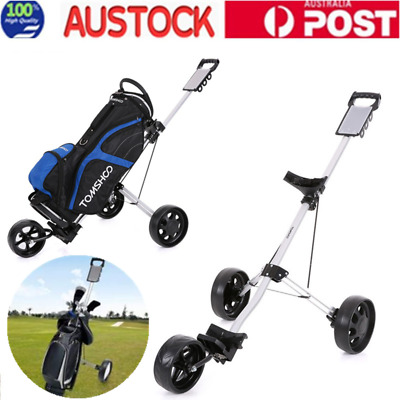 Cruiser 3-Wheel Golf Buggy Bag Anti-shock 360° Wheels Foldable Trolley
