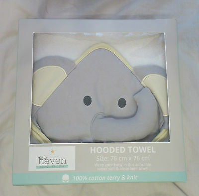 Little Haven Elephant Hooded Towel (Yellow)