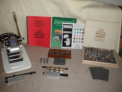 Howard Hot Foil Stamping Model 150 Personalizer with Many Accessories