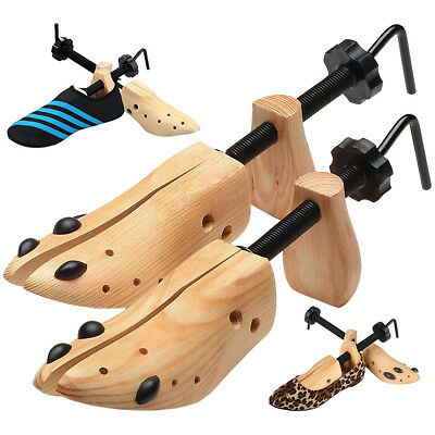 Wooden 2-Way Adjustable Boot Shoe Stretcher Shaper Tree Stretcher Size 9-13 BO