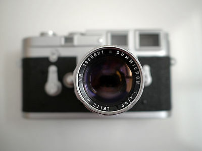 Leica M3 single stroke camera with Summicron Rigid 50mm f2 almost mint
