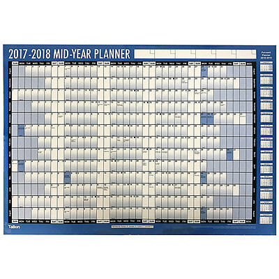 Tallon 2017-2018 Mid-Year Academic Wall Planner, New Arrivals, Brand New
