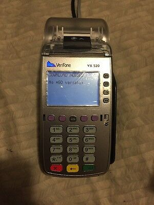 Verifone VX520 Credit Card Terminal (M252-753-03-NAA-3), wiped - needs download
