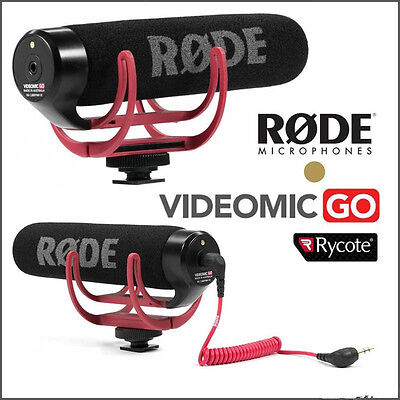 Rode VideoMic Go Video Camera Microphone for Canon Nikon Sony