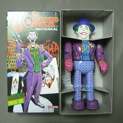 Rare Batman Joker Windup Tin Toy Figure in box Billiken Made in Japan 1989 F/S
