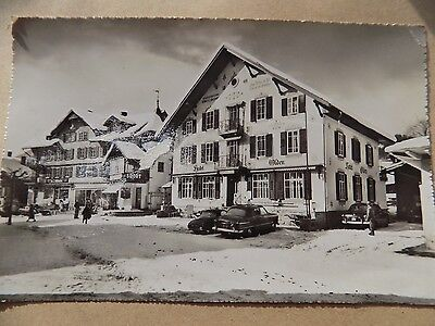 Vintage Old Posted Postcard 1956 Gstaad Switzerland Hotel Olden  b