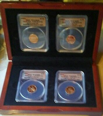 2009-s ANACS PR70 DCAM Lincoln Cent 4-Coin Proof Set 0922 of 3894