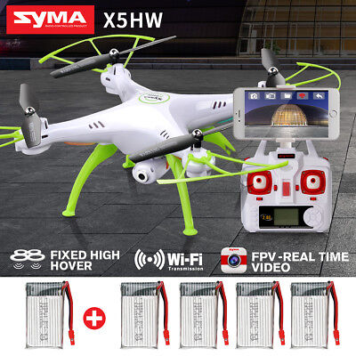 Syma X5HW 2.4G 4CH 6Axis FPV Drone with WIFI HD Camera Hover RC Quadcopter US