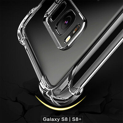 360° Shockproof Soft Silicone TPU Clear Case Cover For Samsung Galaxy S8/S8 Plus