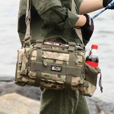 Fishing Tackle Bag Waterproof Storage Duffle Bag Waist Shoulder Carry Outdoor AU