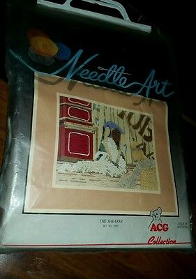 Needle Art Long Stitch kit The Shearer Complete by Australian Craft Group