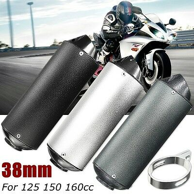 38mm Motorcycle 3 Style Exhaust Muffler Pipe For 125 150 160cc Dirt Pit Bike ATV