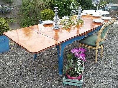 Vintage French Louis Xv Style Extending Dining Table Seats 10/12