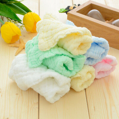 Hot Baby Infant Newborn Soft Cotton Bath Towel Washcloth Feeding Wipe Cloth