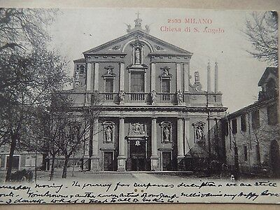 Vintage Old Posted Postcard 1905 Milan Chiesa di S Angelo Italy   b