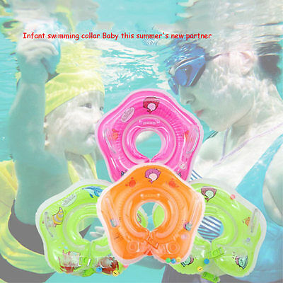 Safe Baby Bath Infant Swimming Neck Float Inflatable Swiming Ring Newborn Circle