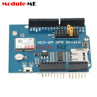 NEO-6M u Blox NEO-6 GPS Logger Shield SPI UART w/ SD Card Slot for Arduino MO