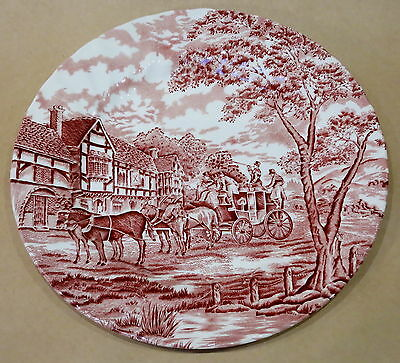 Royal Wessex Red & White Carriage Dinner Plate