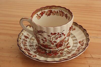 Spode Copeland Indian Tree design 1 Fluted Cup & Saucer 4 available Gd condition
