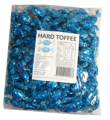 Sweet Treats Wrapped Hard Toffees - Blue - Chocolate (1kg)