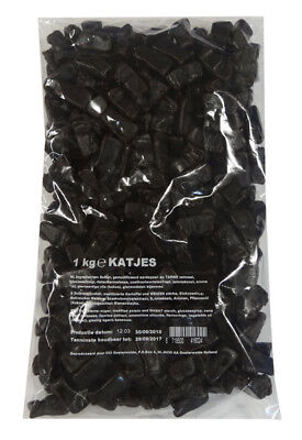 K & H Dutch Licorice - Katjes (soft cats) (1kg bag)
