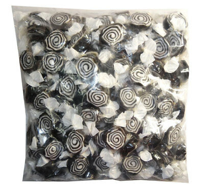 Licorice Whirls (1kg bag)