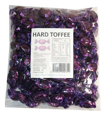 Sweet Treats Wrapped Hard Toffees - Purple - Hazelnut (1kg)