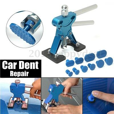 PDR Car Body Dent Lifter Puller Removal Tool Kit Blue Tabs Paintless Hail Repair