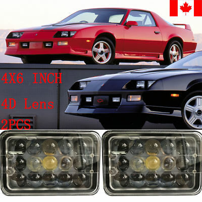 4D Lens H4 LED Conversion 2X Headlights Headlamps for Chevy Camaro 1982-1992 CA