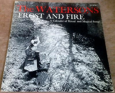 THE WATERSONS frost and fire 1965 UK BLUE TOPIC MONO VINYL LP