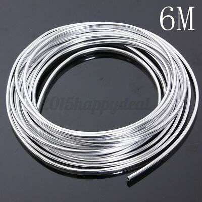 6 Meters Chrome Moulding Trim Strip Car Door Edge Scratch Guard Protector Cover