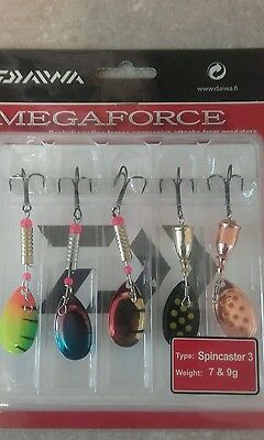 Daiwa Megaforce size 2 Lure Kits 5 in Pk. spinners Trout Salmon Pike