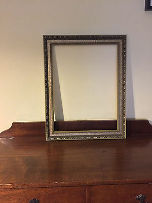 Large Vintage Retro Carved Wood Picture Frame GOLD & BROWN 49 x 62 cm