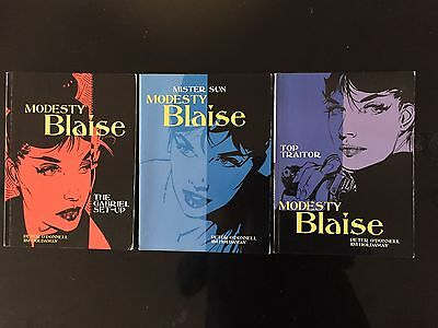Modesty Blaise Collection -1,2,3 in the popular series by Peter O' Donnell
