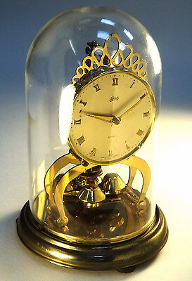 Collectable Vintage Brass Shatz Dome Cased Mantel Clock 4 Restoration (WH_0478)